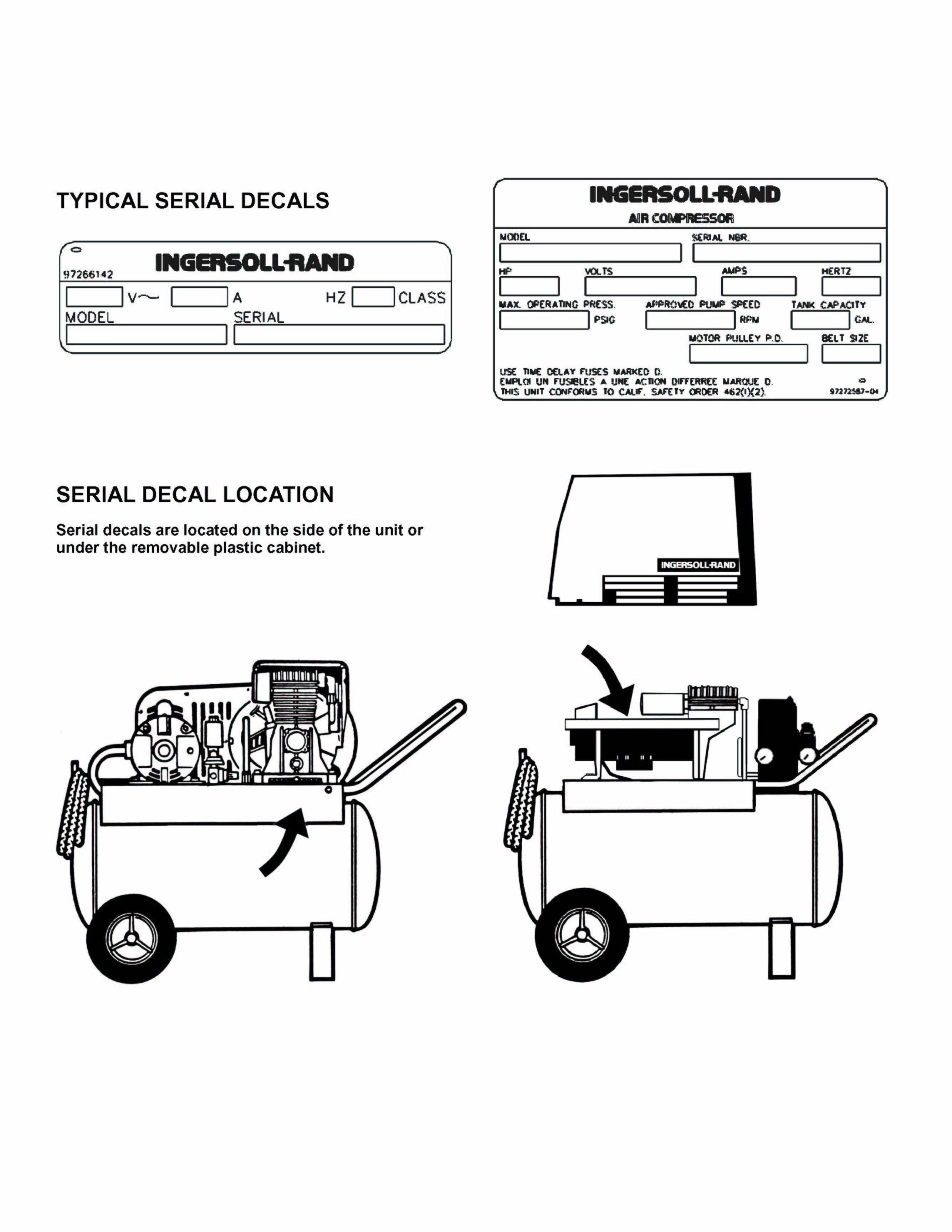 Picture of Recalled Air Compressor Decals