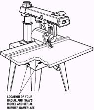 Picture of Craftsman Radial Arm Saw