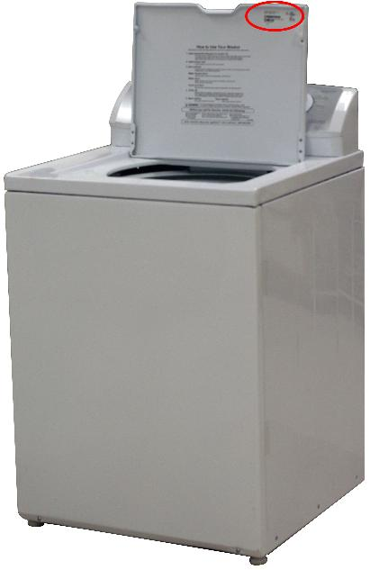 Picture of Recalled Top load washer