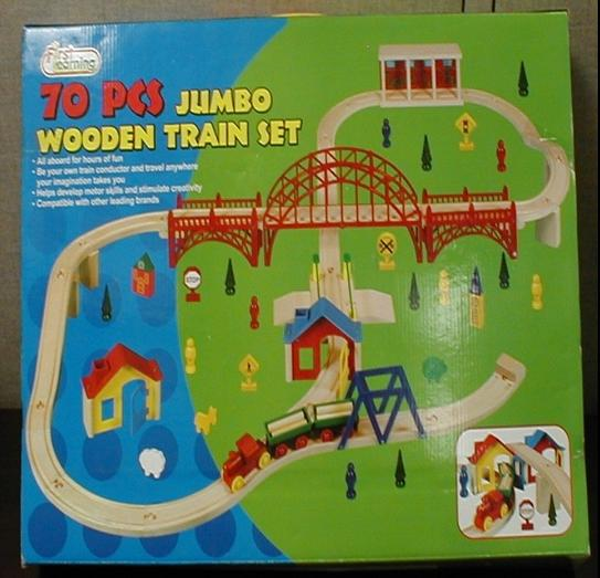 Picture of Recalled 70 Piece Jumbo Wooden Train Set