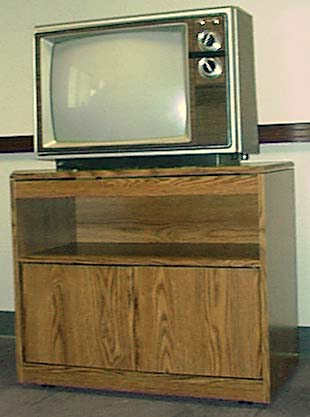 TV sitting on TV cart