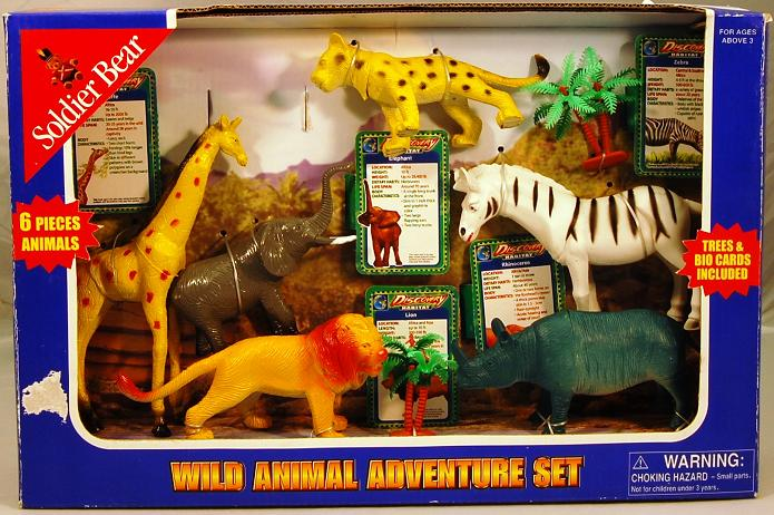 Picture of Recalled Soldier Bear Wild Animal Toy Set