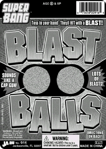 "Picture of Recall of ""Blast Balls"" Toys"