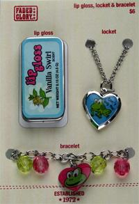 Picture of Recalled Lip Gloss, Locket, and Bracelet Sets
