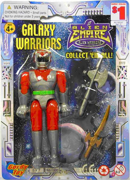 Picture of Recalled Galaxy Warrior Toy Packaging