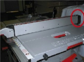 Picture of Recalled Table Saw Rip Fence Assembly