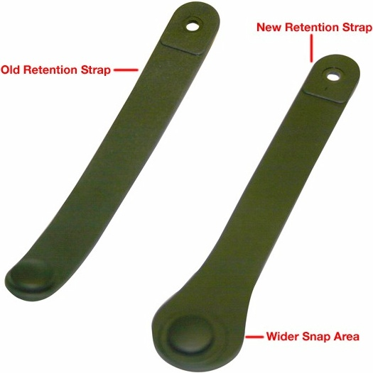Picture of Old and New Retention Straps