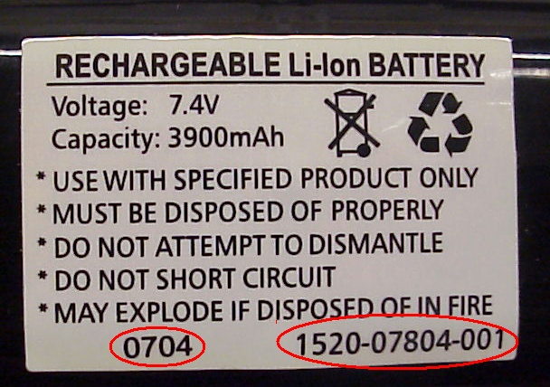 Picture of Recalled Conference Phone Battery