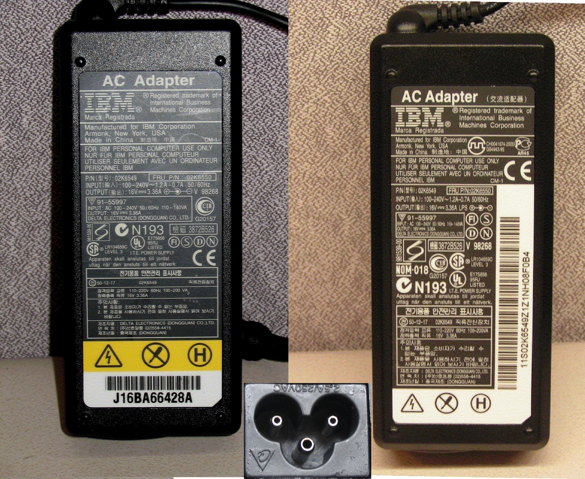 Picture of Recalled AC Power Adapters with hollow pins