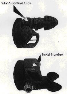 Control Knob and Serial No. Location