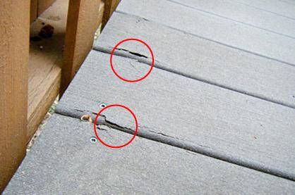 Picture of damaged decking