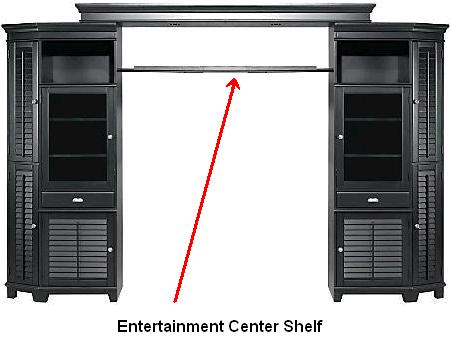 Picture of recalled entertainment center