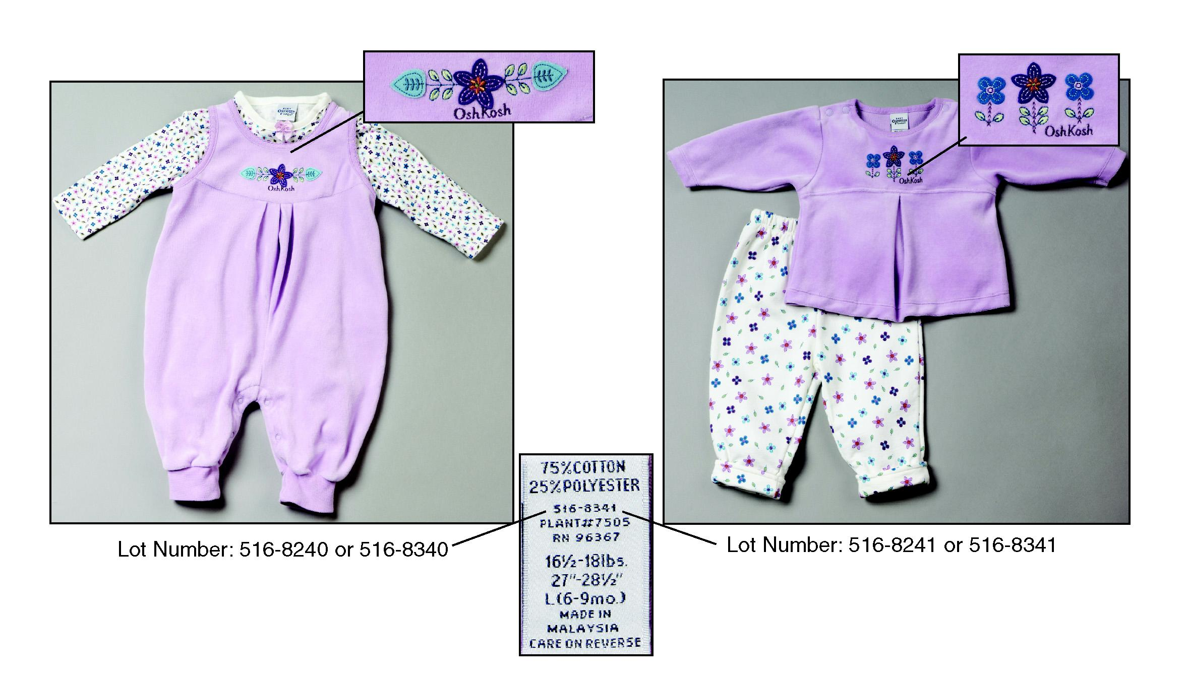 Picture of Recalled Garments