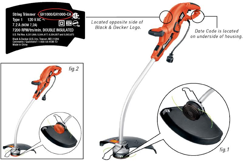 Black & Decker Recalls Trimmers/Edgers Due to Laceration
