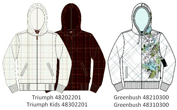Picture of recalled sweatshirts
