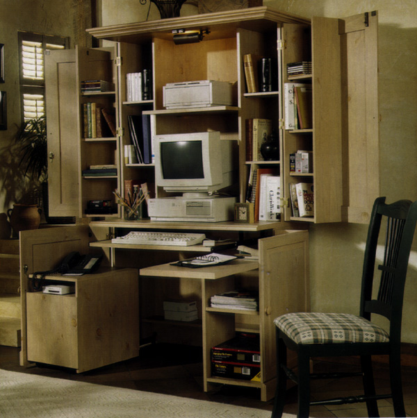 Picture Of Computer Desk Open