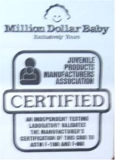 Recalled Crib Label