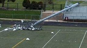 Picture of fallen stadium light pole