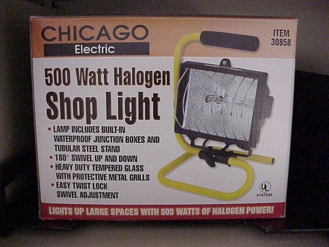 Picture of Recalled Halogen Work Lamp Box
