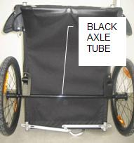 Picture showing black axle tube