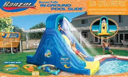 Picture of recalled inflatable pool slide package