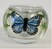 Picture of Round Shape with Two Butterflies, Model #806-8