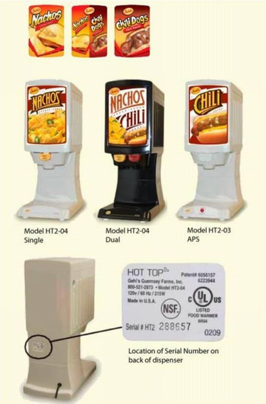 Picture of Recalled Nacho Cheese and Chili Sauce Dispensers