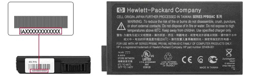 Picture of Recalled Computer Batteries