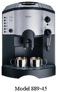 Picture of Recalled Espresso Maker 889-45