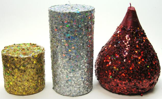 Picture of Recalled Sequin Glitter Candles