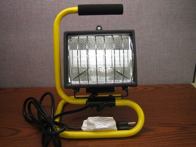 Picture of the Back of the Recalled Halogen Work Lamp