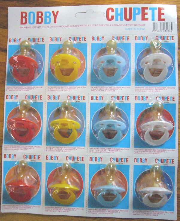 Picture of Recalled Pacifiers in packaging