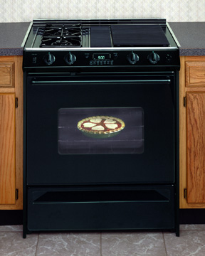 picture of gas range - Downdraft Electric Range