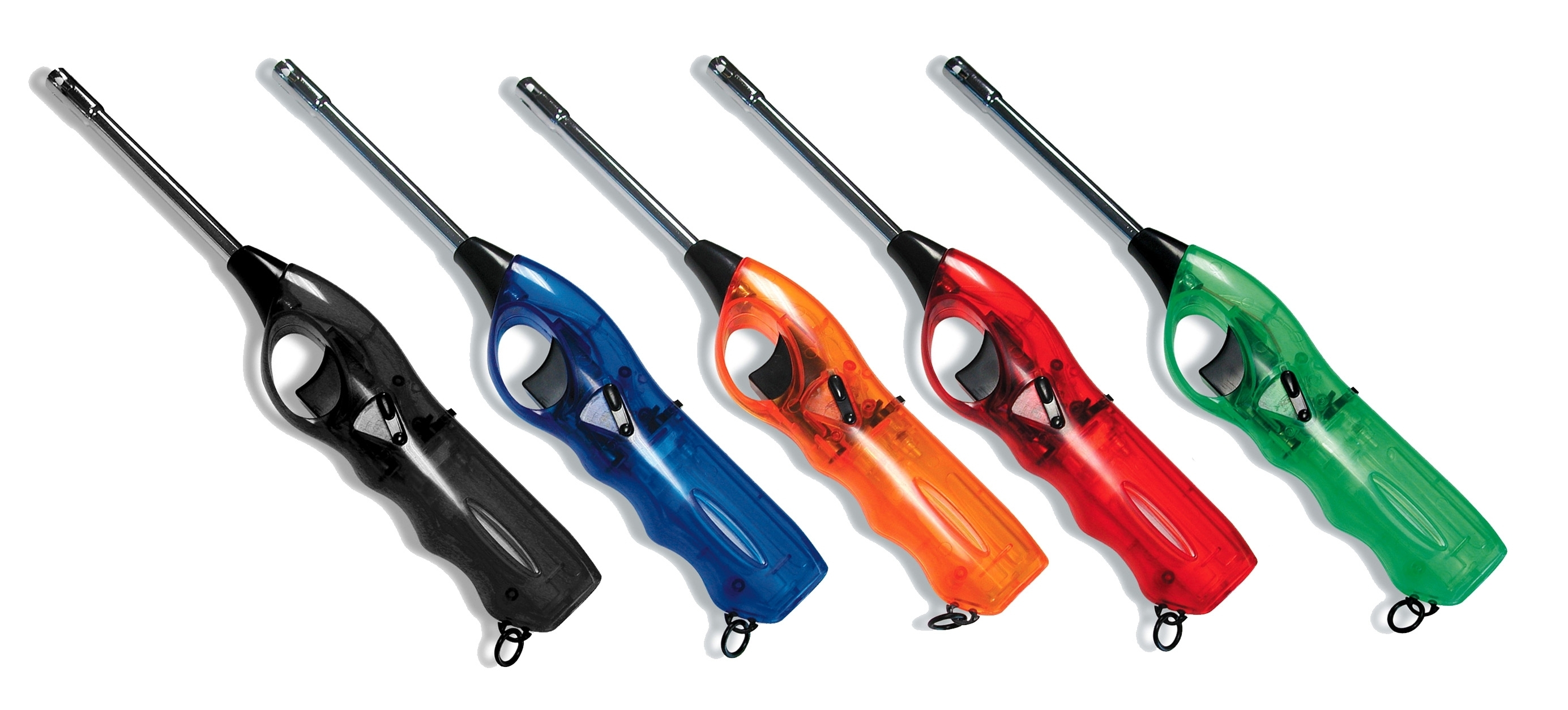 Picture of Lighters with Blue, red, orange, black or green Body