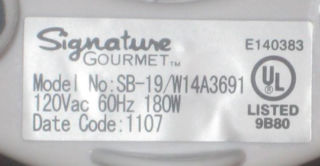 Picture of Recalled Signature Gourmet Personal Blender