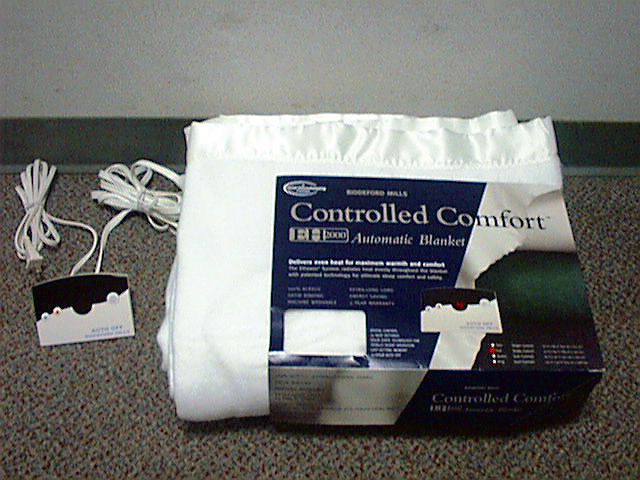 Picture of Recalled Electric Blanket
