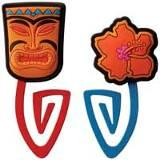 Picture of Recalled Flower and Tiki Paper Clip