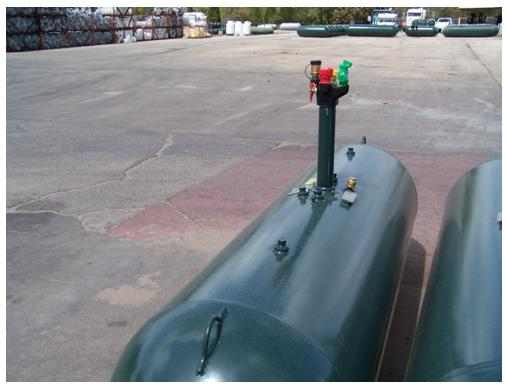 Picture of Recalled Conversion Underground Propane Storage Tank